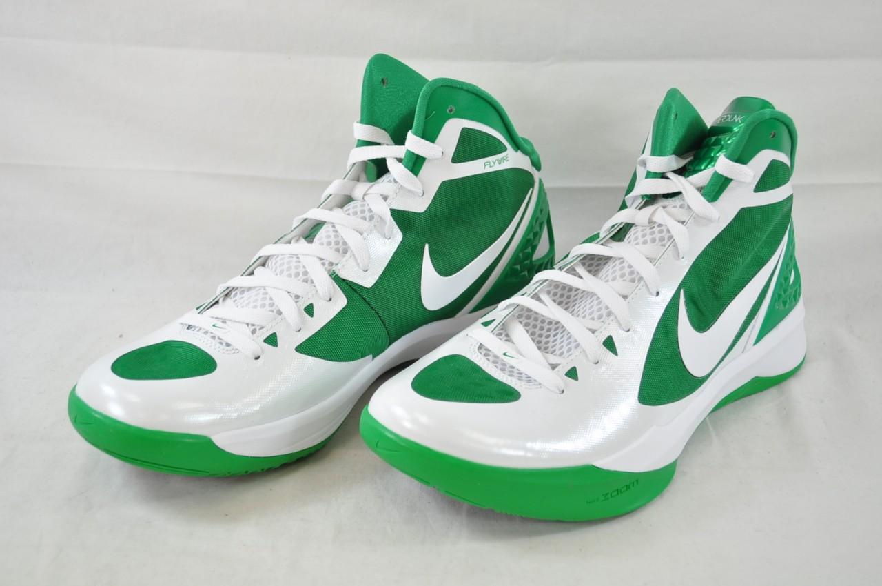 nike zoom hyperdunk 2011 454138 105 white lucky green