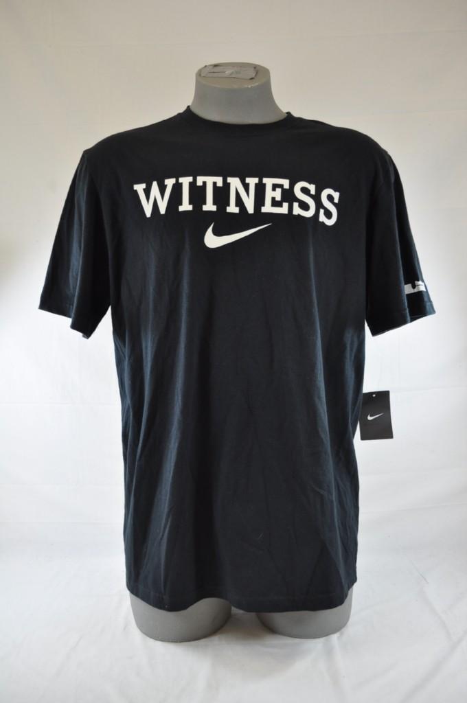 nike lebron james witness black white swoosh lj logo t