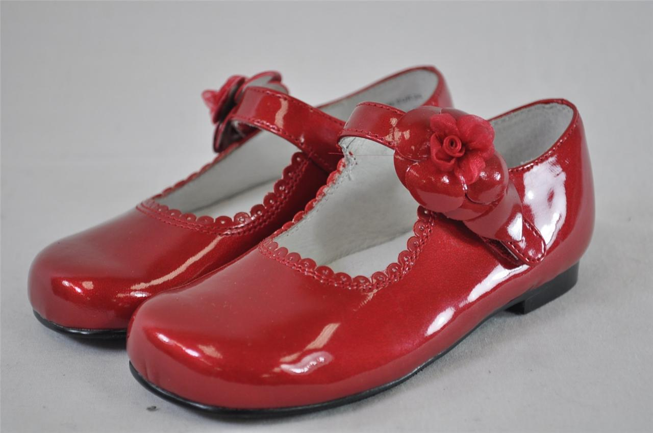 NINA KIDS XUXA RED PATENT LEATHER MARYJANE WITH FLORAL ...