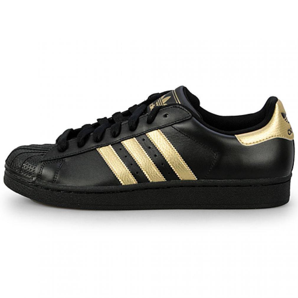 adidas superstar 2 shell toe g15563 black metallic gold