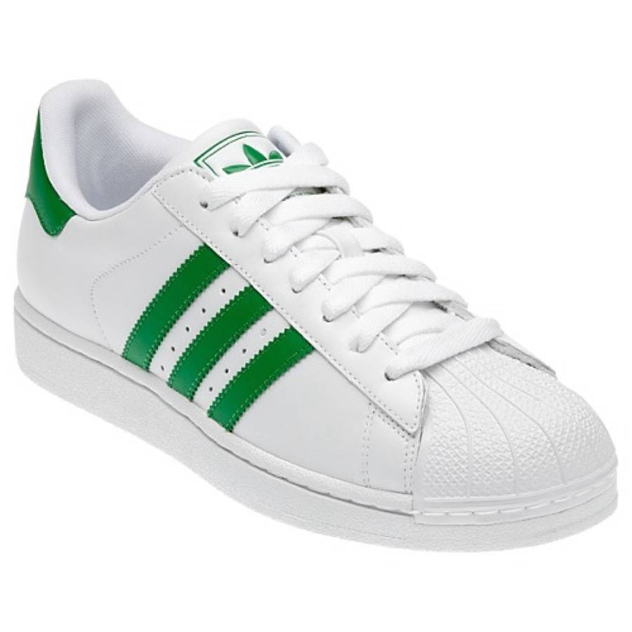 adidas superstar 2 shell toe g17069 white fairway green leather casual shoe ebay. Black Bedroom Furniture Sets. Home Design Ideas