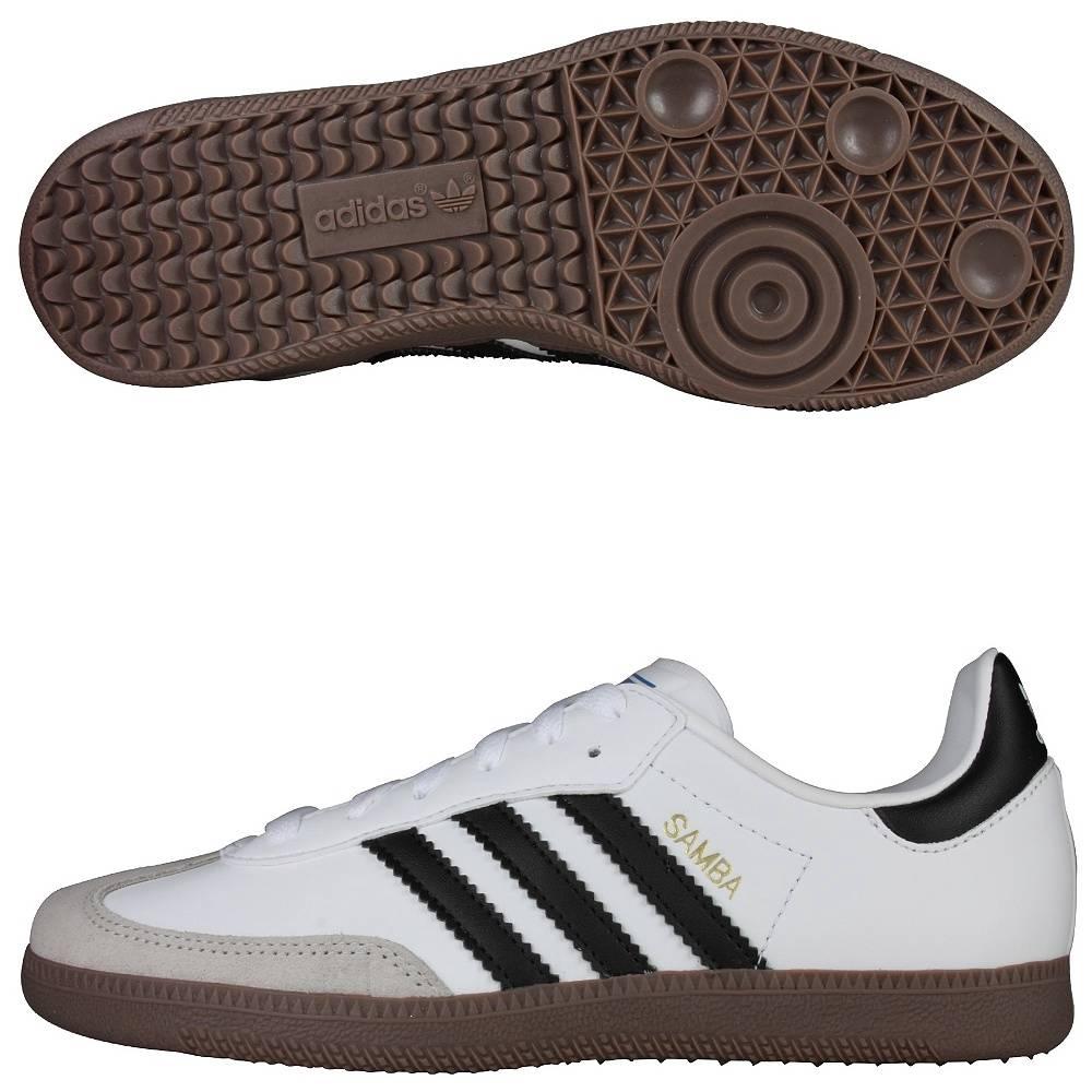 Adidas samba cl k classico bianco / nero / gomma g00845 solo cuoio