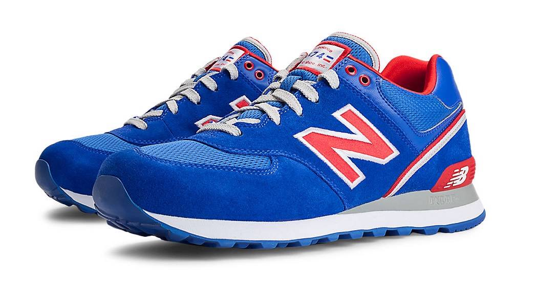 574 new balance red white and blue