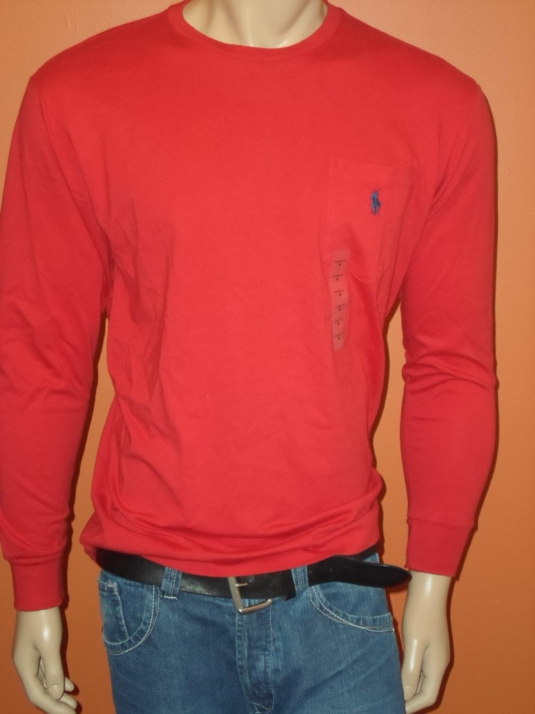 Polo ralph lauren long sleeves t shirts pocket sizes s m for Polo t shirts with pockets