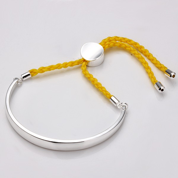 Wholesale-2012-Gift-925silver-jewelry-braided-bracelet-bangle-colorful
