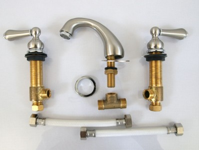 4 Inch Spread Bathroom Faucets : inch spread brushed nickel Bathroom Widespread bath lavatory faucets ...