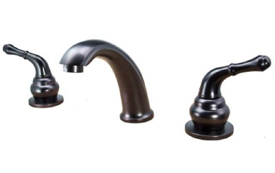 8 inch spread oil bronze bathroom widespread bath lavatory for Bathroom 8 inch spread faucets