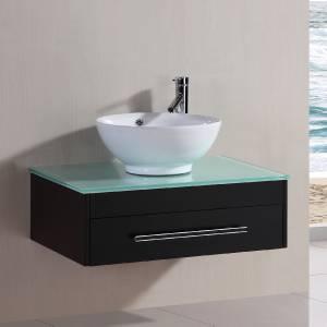 23 bathroom ceramic round porcelain sink cabinet vanity w faucet