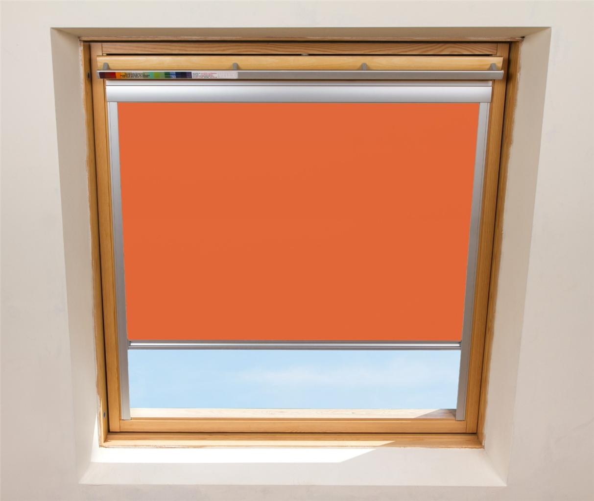 Blackout thermal roller blinds designed for velux skylight for Velux window shades