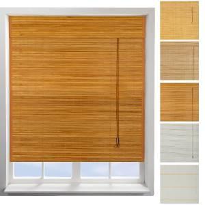 Quality Easyfit Light Dark Beige White Roman Bamboo Wooden