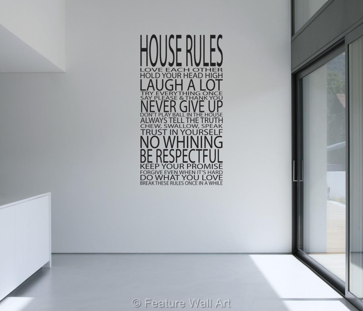 Love Quotes Vinyl Wall Art : House rules family love vinyl art wall stickers quotes