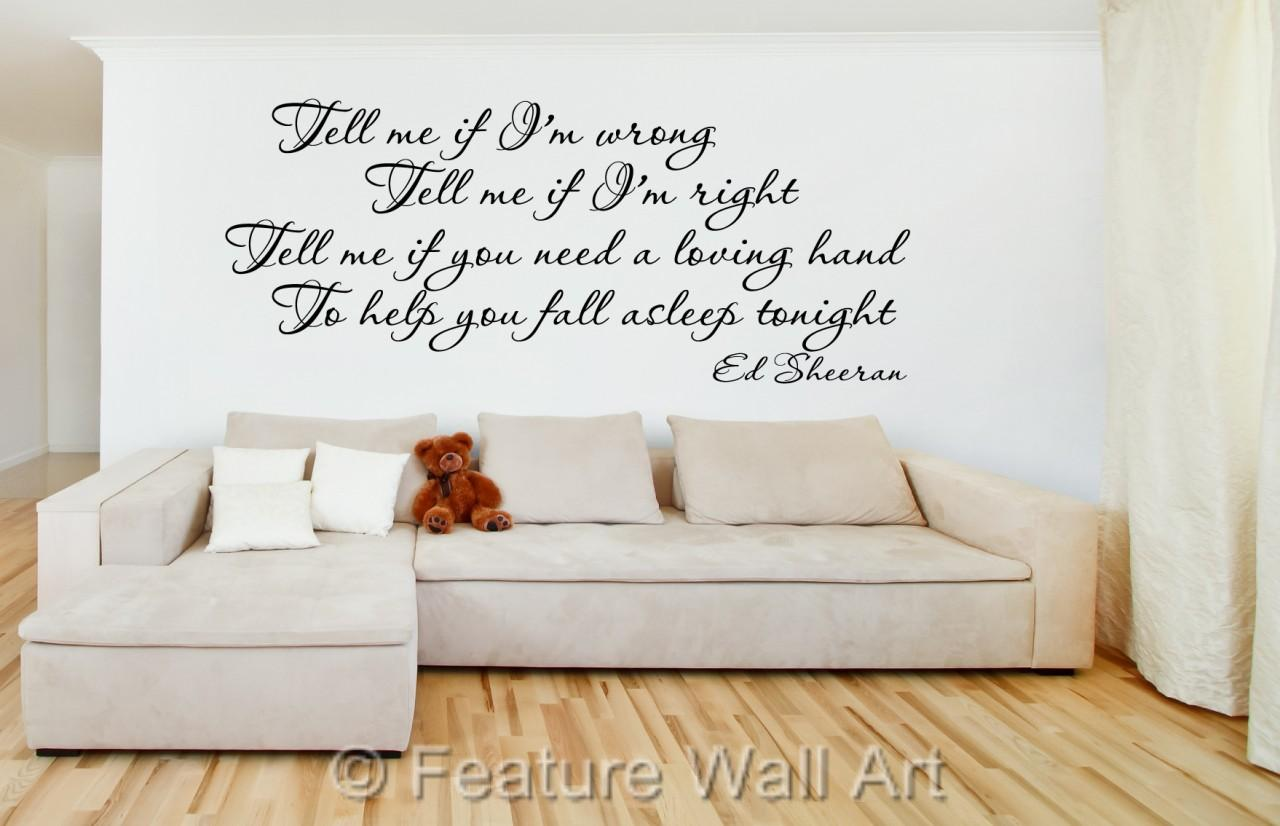 Wall Art Stickers Ed Sheeran : Ed sheeran cold coffee tell me if lm wrong lyrics wall art