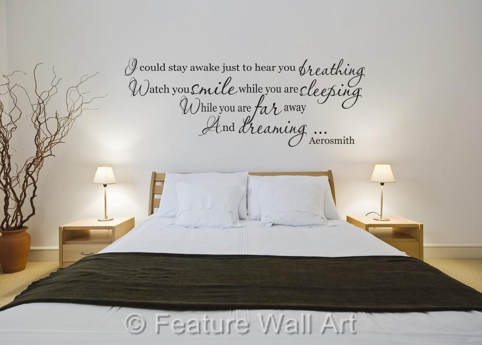 Wall Art Stickers Song Lyrics : Aerosmith breathing song lyrics wall art vinyl decal