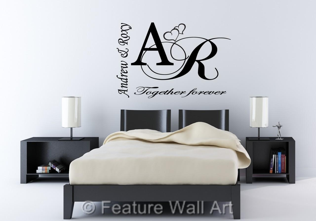 personalised wall art decals color the walls of your house personalised wall art decals personalised together forever vinyl wall art sticker decal