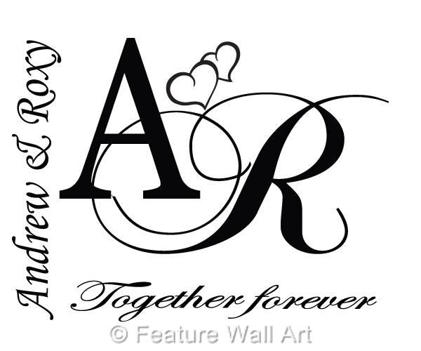 Personalised-Together-Forever-Vinyl-Wall-Art-Sticker-Decal-Wedding-Gift-WA0263