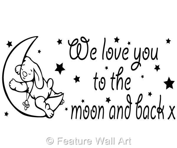We-Love-You-To-The-Moon-Back-Nursery-Baby-Room-Vinyl-Wall-Art-Decal-Sticker