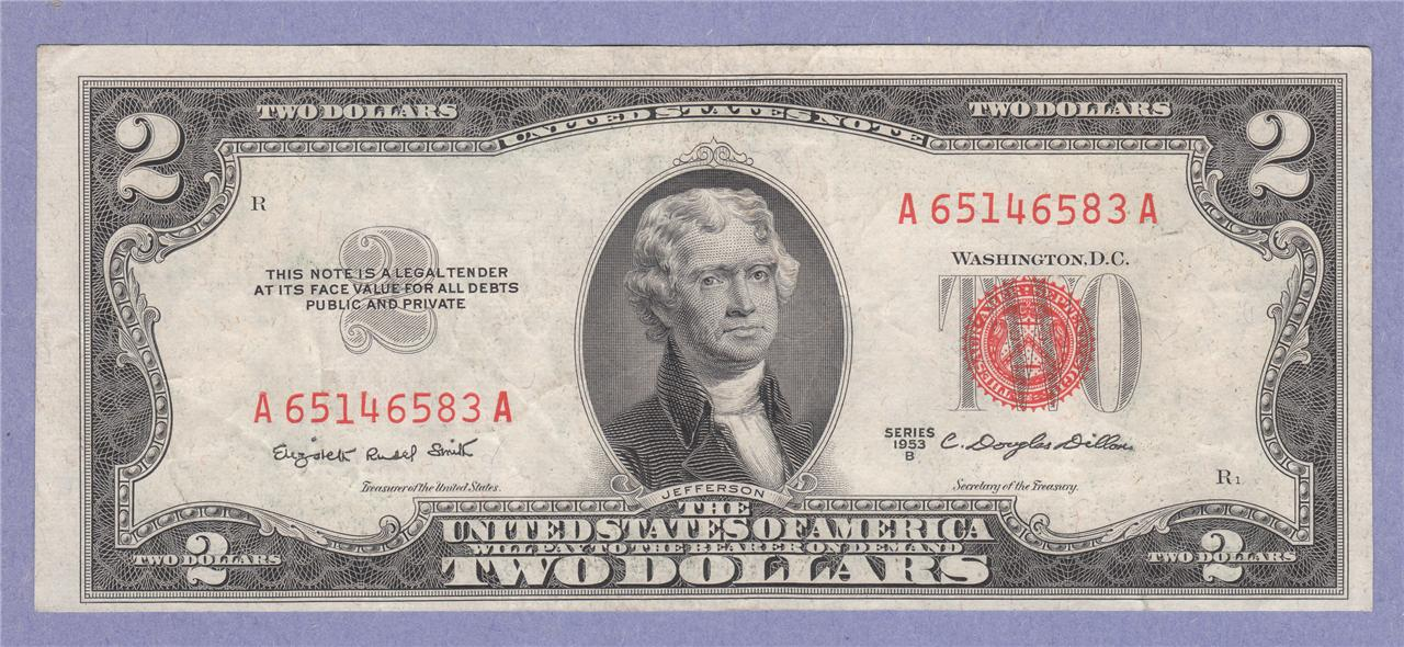$200 Face Value 100 CIRCULATED $2 NOTES From 2003A-2013 Two Dollar BILLS