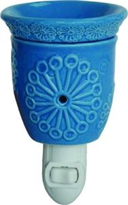 Turquoise Blue Plug In Tart Warmer Night Light Use With