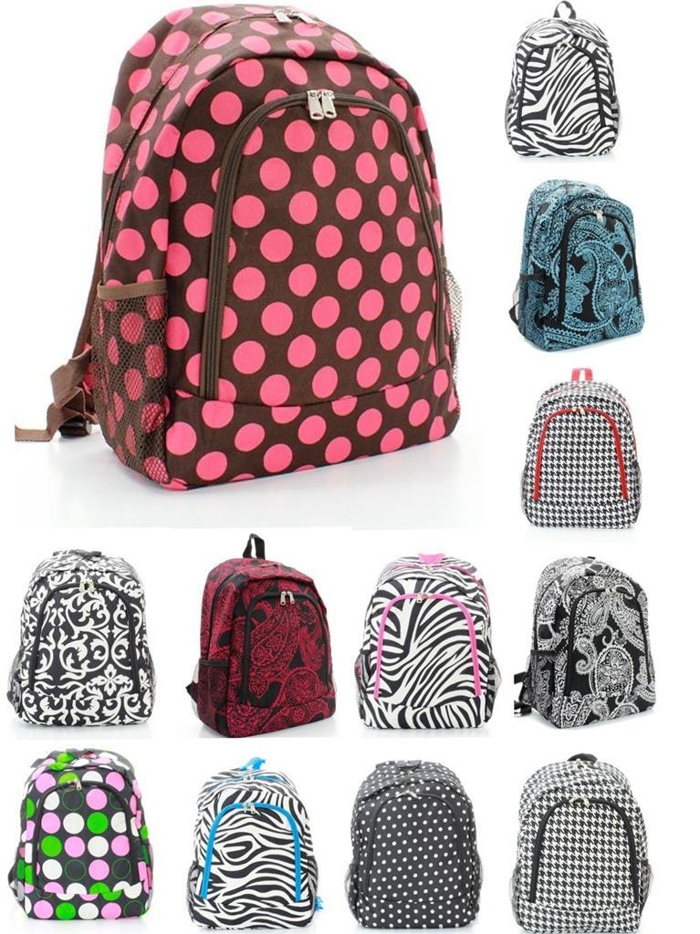 """Twelve Styles 16"""" BACKPACK School Book Bag Microfiber ..."""