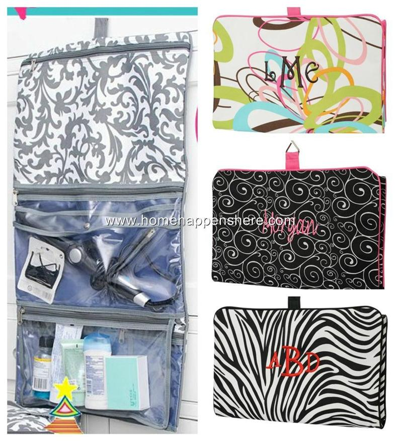 jewelry cosmetic bag organizing hanging zip up zipper makeup pouch travel case ebay. Black Bedroom Furniture Sets. Home Design Ideas