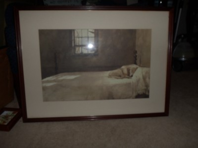 Master Bedroom Andrew Wyeth House Sleeping Dog Bed Framed Print From Local Area Ebay