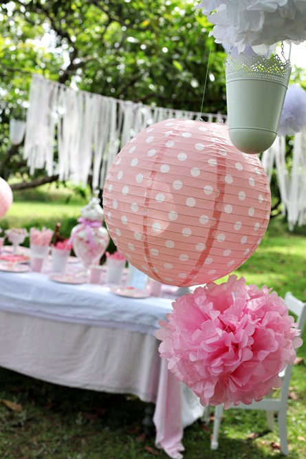 Wedding paper lantern s 2 pink polka dot kids retro for Pink polka dot decorations