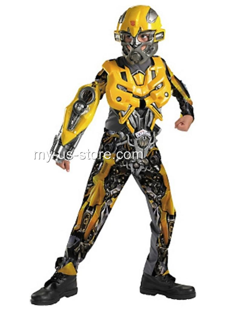 Bumble Bee Transformer Costume BOYS Transformers Delu...