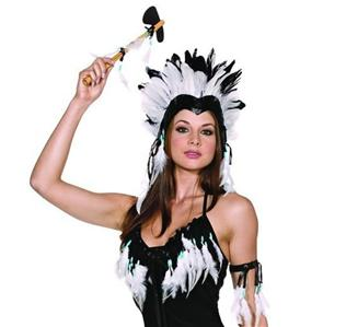 sexy squaw indian black white ladies costume bracelet and. Black Bedroom Furniture Sets. Home Design Ideas