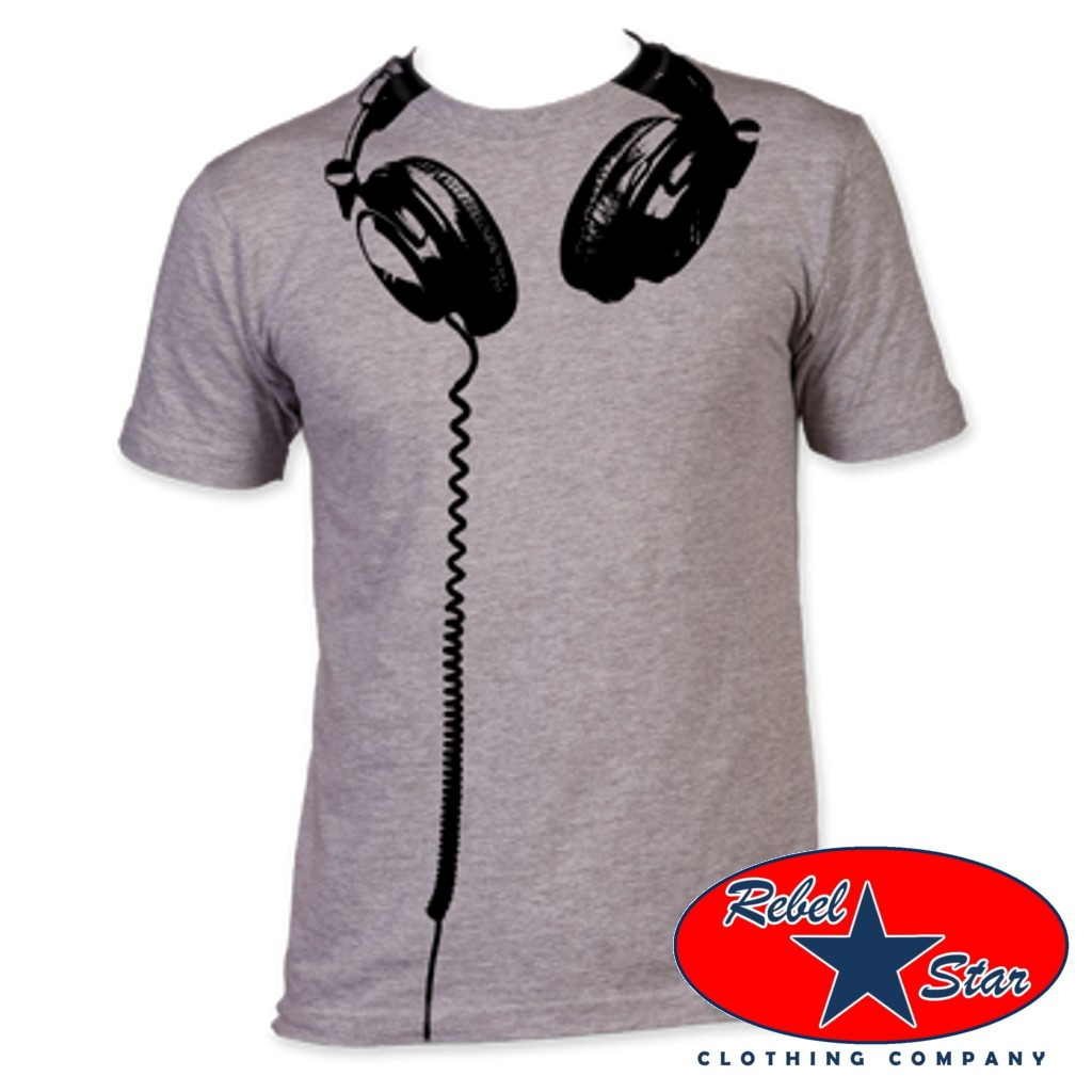 Headphones-Mens-T-Shirt-Retro-80s-Cool-Punk-Indie-Rock-Alternative-Tattoo-DJ-Mod