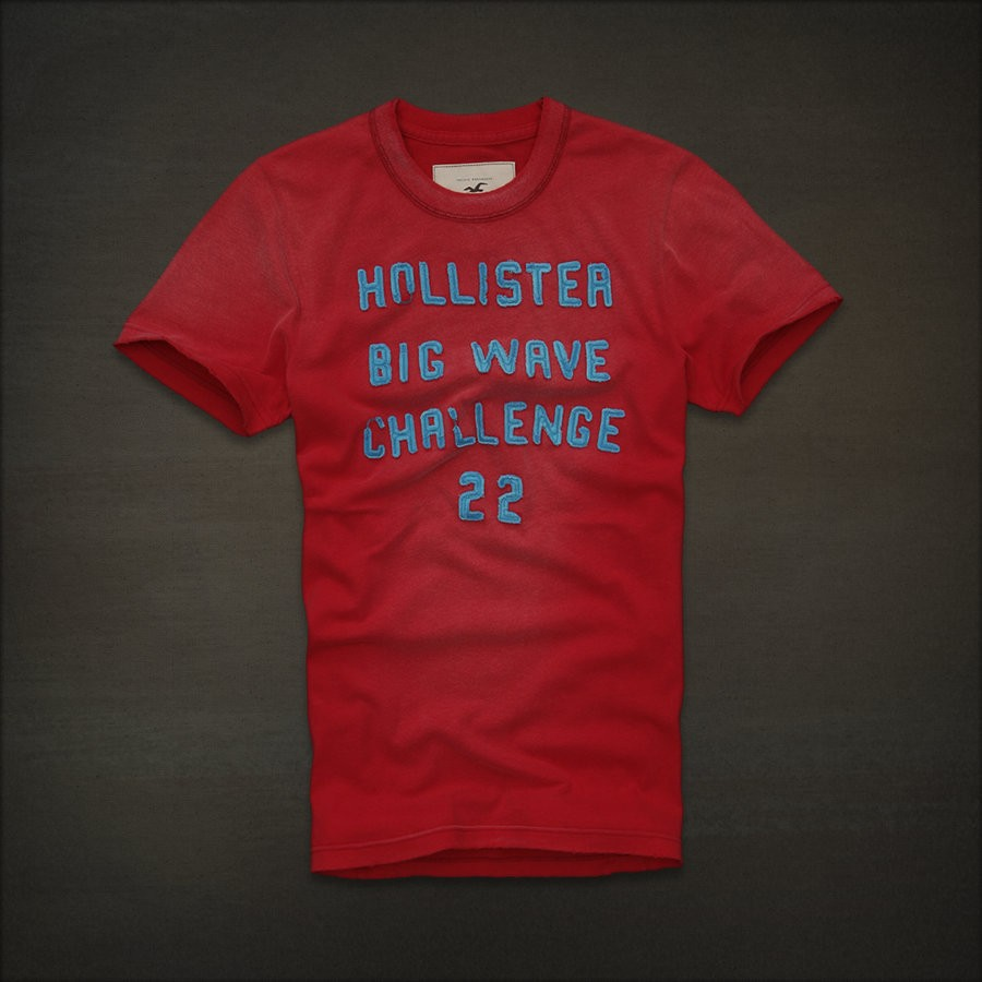 Hollister by abercrombie fitch distressed supersoft for Abercrombie logo t shirt