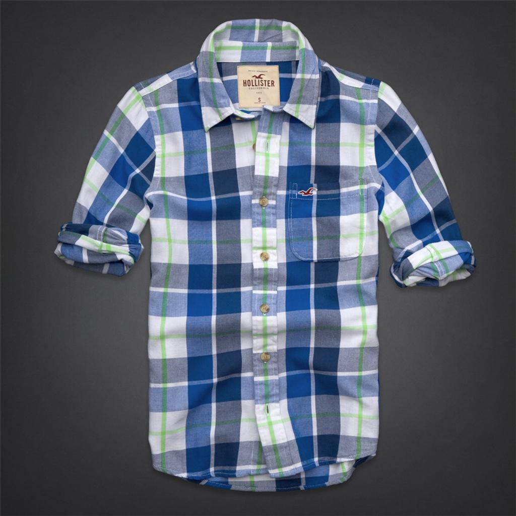 hollister shirts for men blue - photo #23
