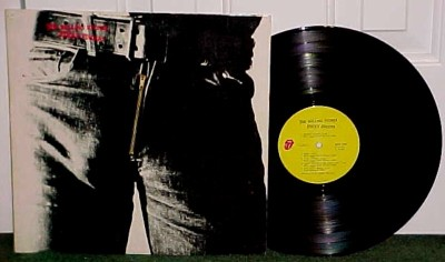 ROCK LP) ROLLING STONES   STICKY FINGERS (PROMO STAMP)