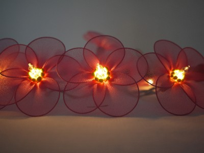 Handmade Flower Fairy String Lights 10ft Floral Bedroom Dining Room Conservatory eBay