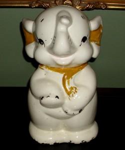 Vintage elephant cookie jar american bisque ebay - Vintage elephant cookie jar ...