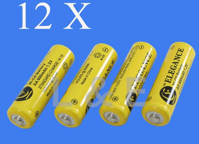 12 X Aa Rechargeable Nicd 600mah 1 2v Battery Garden Solar Lights Lawn Yard Lamp Ebay