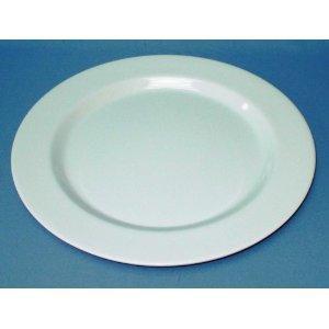 BULK LOT 12 X LARGR ROUND MELAMINE DINNER PLATES WHITE 28cm BRAND NEW
