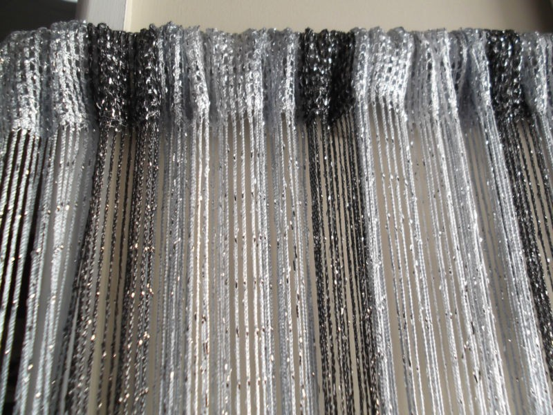 2 Tone Black Amp Silver Door Curtain Fly Insect Bug Screen