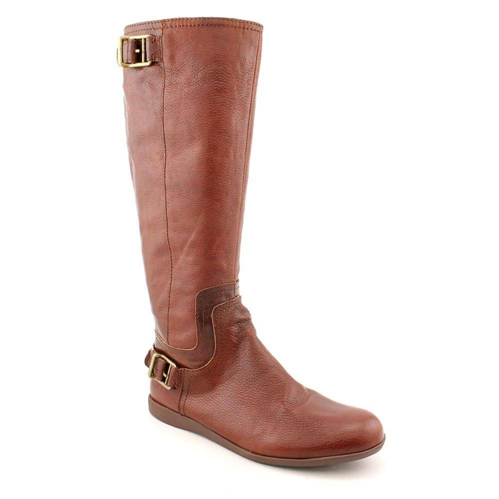 nine west news flash womens brown leather fashion knee