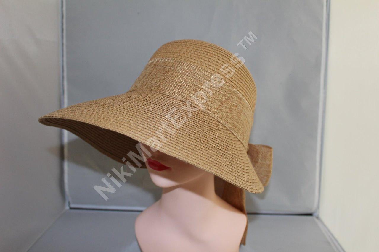 New Women Ladies Summer Wide Brim Roll Up Foldable Sun Beach Straw Visor Hat Cap