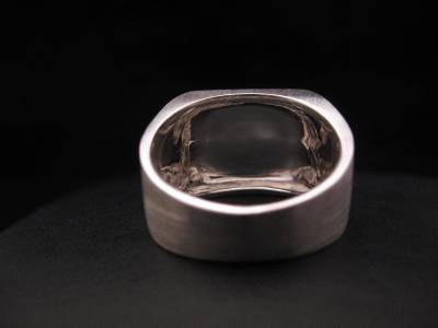 mens square signet ring custom hand engraved initials