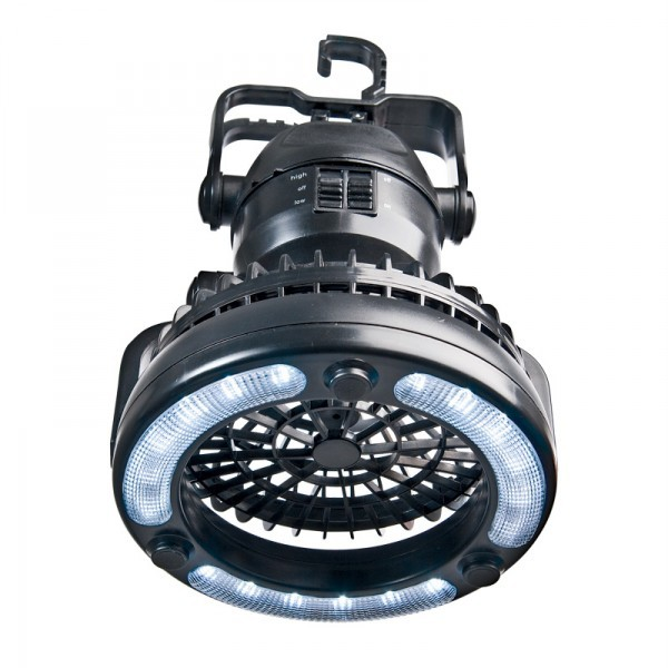 Battery Powered Led Boat Lights: Camping Tent Fan With 18 LED Light 2xD Battery Powered