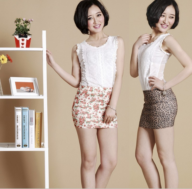 super sexy short women mini skirt dress slim seamless stretch tight