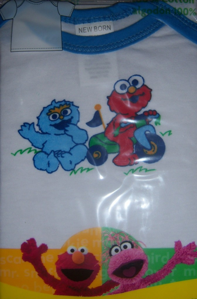 sesame street infant t shirt elmo cookie monster big bird baby shower