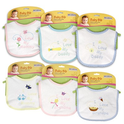 Little Mimos Assorted Saying Bibs, 0-24 Months, Baby Shower, Diaper Cake