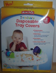 Munchkin Travelware Disposable Tray Covers Baby Shower