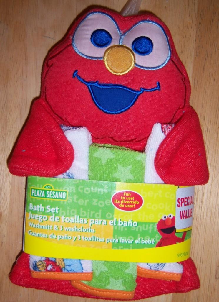 street wash mit amp 3 cloths elmo big bird cookie monster baby shower
