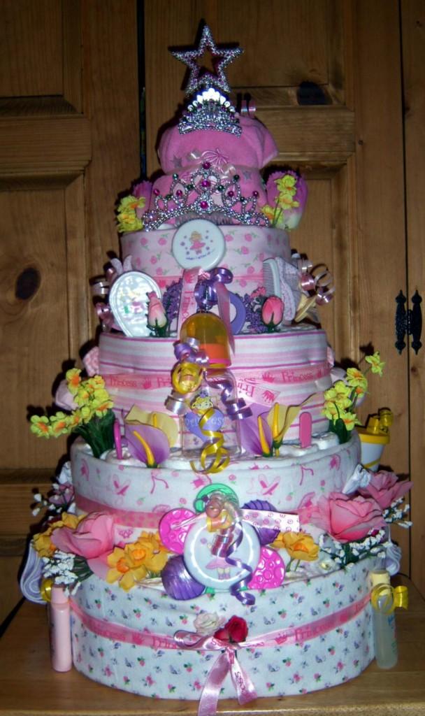 Baby Shower 5 Tier Diaper Cake Safari Princess Winnie The Pooh