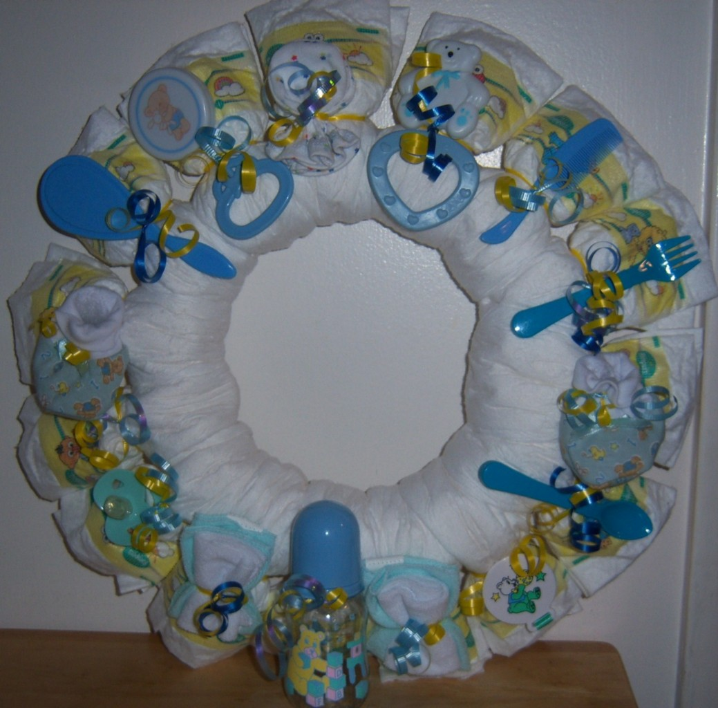 baby shower diaper wreath winnie the pooh cars precious moments