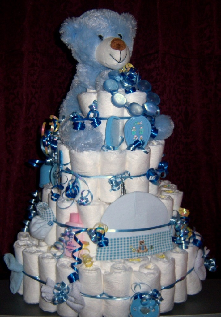 about baby shower 4 tier bear diaper cake 150 brand diapers bonus