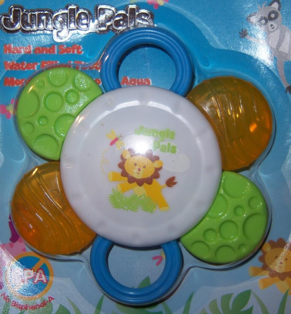NEW-JUNGLE-PALS-HARD-SOFT-WATER-TEETHER-Lion-Zebra-Hippo-Baby-Shower-Cake